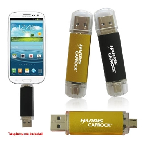 3-in-1 Flash Memory Drive For Smart Phones (MS144DS)