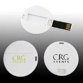 Round Credit Card USB Flash Drive (MS419SD)