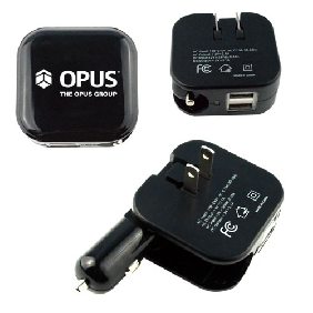 2 in 1 dual USB car/wall charger (UPD21)