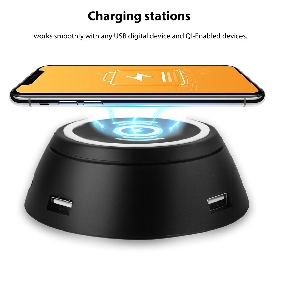 The Newest Qi  Wireless  Charging pad with 6 USB Ports (HD71)