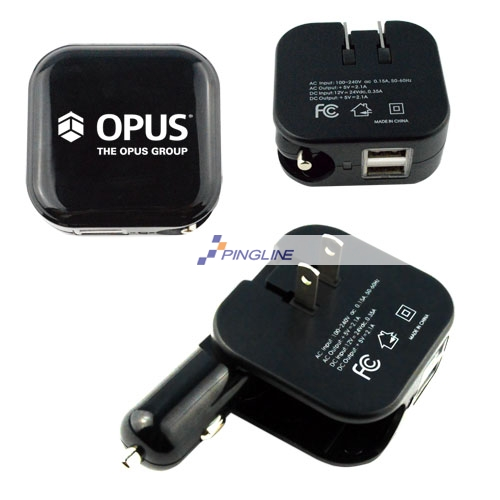 2 In 1 Dual Usb Car Wall Charger Upd21